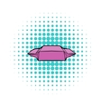 Lunch paper wrap iconcomics style vector image vector image