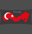mediterranean region turkey map vector image vector image