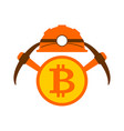 miner logo mining bitcoin crypto currencies vector image