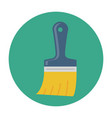 paint brush flat icon vector image vector image