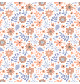 pattern with flowers and leaves vector image vector image