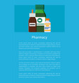 pharmacy medication items set poster vector image vector image