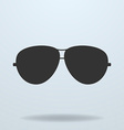 Police or cop sunglasses glasses black icon vector image vector image