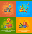 pyrotechnics elements for party banners vector image vector image
