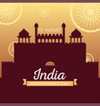 red forte india independence day design