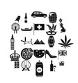 royal family icons set simple style vector image vector image