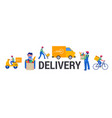 safe online delivery during coronavirus vector image vector image
