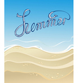 Sea sand sky and summer day vector image