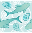 Seamless background with sharks vector image vector image
