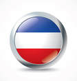 Serbia and Montenegro flag button vector image vector image