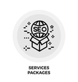 Services Packages Line Icon vector image vector image