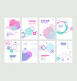 set brochure and annual report design templates vector image vector image