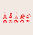 set cartoon gnomes collection cute vector image vector image