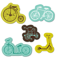 Set of Baby Bike Stickers vector image