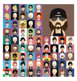 set people icons in flat style with faces 08 a vector image vector image