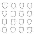 shield coat outline badge police crest of vector image