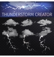 Sky creator with realistic clouds and vector image vector image