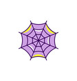 spider web halloween icon colorful flat cobweb vector image