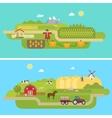 summer agricultural landscapes vector image vector image