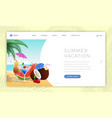 summer holidays landing page template summertime vector image vector image