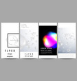 the minimalistic layout of flyer banner vector image