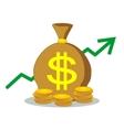 Three bags of money vector image