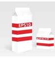 Two Milk Carton Packages Blank White Version vector image