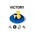 Victory icon in different style vector image vector image