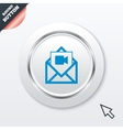 Video mail icon Video camera symbol Message vector image