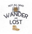 vintage hand drawn t shirt design wanderlust vector image vector image