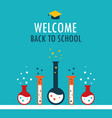 welcome back to school background chemistry theme vector image vector image
