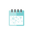 winter calendar with snowflake icon vector image vector image