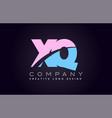 xq alphabet letter join joined letter logo design vector image vector image