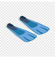 blue flippers isometric icon vector image