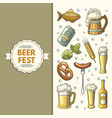 a set of oktoberfest icons vector image vector image