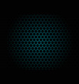 abstract black hexagon mesh pattern on blue vector image