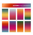 abstract colorful gradients in autumn colors vector image