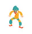 angry clown cartoon character halloween clown vector image vector image