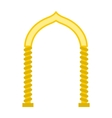 Arch in the oriental style icon flat style vector image