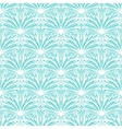 Art deco floral pattern in tropical blue vector image vector image