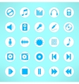Audio icons set made in clean and simple design