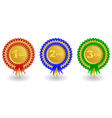 Award ribbons set vector image vector image