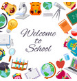 back to school sale poster for september autumn vector image vector image