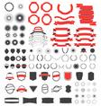 big pack vintage design elements vector image