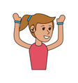 boy doing workout fitness vector image vector image
