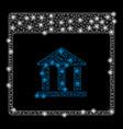 bright mesh carcass bank building calendar page vector image vector image