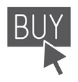 buy now glyph icon shopping and commerce buy vector image vector image
