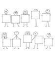 cartoon ten businessmen and businesswomen vector image