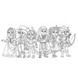 children in carnival costumes vector image vector image