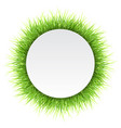 circle label with green grass vector image